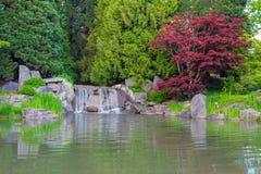 Cascada por el lago fotos de archivo