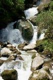 Cascada que cae en Ecuador Imagen de archivo libre de regalías