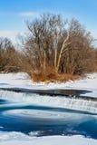 Cascada que remolina helada Fotos de archivo