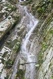 Cascada rápida en las montañas Imágenes de archivo libres de regalías