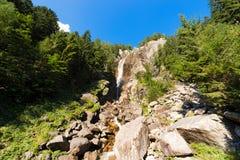Cascada Regina del Lago - Adamello Trento Italia Imagen de archivo