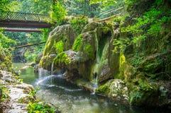Cascada Rumania de Bigar Imagen de archivo