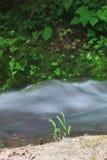 Cascada salvaje del río (Kravtsovka) foto de archivo
