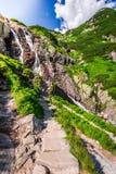 Cascada Siklawa en el Tatras, Polonia Imagen de archivo libre de regalías