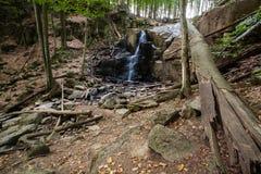 Cascada Skakalo en las montañas cárpatas, Transcarpathia Imágenes de archivo libres de regalías