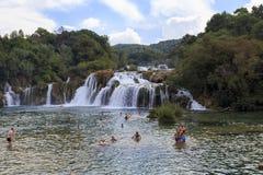Cascada Skradin Buk, Croacia imágenes de archivo libres de regalías