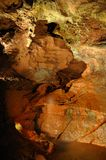 Cascada subterráneo Foto de archivo libre de regalías
