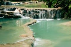 Cascada Sunlit Fotografía de archivo