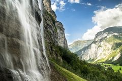 Cascada Switserland de Lauterbrunnen fotografía de archivo libre de regalías