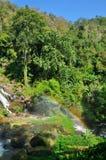 Cascada Tailandia de Wachirathan foto de archivo