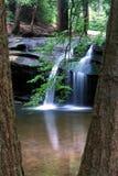 Cascada a través de los árboles Fotos de archivo