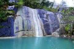 Cascada Veli Vir del  i de SokoliÄ del pueblo de Koper Eslovenia fotos de archivo