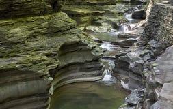 Cascada, Watkins Glen State Park, Nueva York, no fotografía de archivo