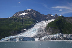 Cascada y glaciares de Barry Imágenes de archivo libres de regalías