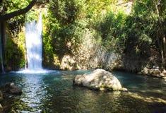 Cascada y parque de Banias Fotografía de archivo libre de regalías