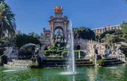 Cascadafontein Barcelona Spanje Royalty-vrije Stock Foto