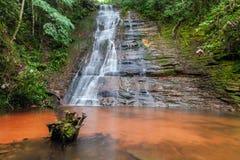 Cascadas, cascada hermosa en una exposición larga de la selva tropical bolivia Fotos de archivo libres de regalías