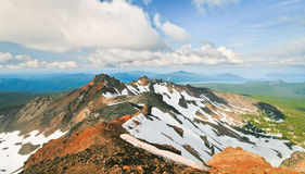 Cascadas centrales de Diamond Peak y de Oregon Foto de archivo