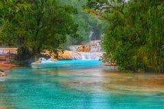 Cascadas de Agua Azul waterfalls. Agua Azul. Yucatan. Mexico Royalty Free Stock Image