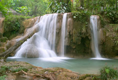 Cascadas DE Agua Azul waterval Royalty-vrije Stock Afbeeldingen
