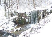 Cascadas de la cala del invierno fotografía de archivo