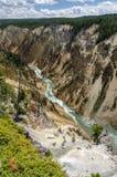 Cascadas de Yellowstone Imagen de archivo libre de regalías