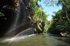 Cascadas del arco iris Imagen de archivo libre de regalías