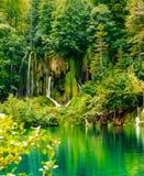 Cascadas del parque nacional de los lagos Plitvice Foto de archivo