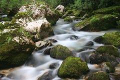 Cascadas del río de Soca Fotos de archivo libres de regalías