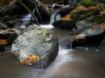 Cascadas en el otoño. Imágenes de archivo libres de regalías