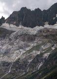 Cascadas enormes del glaciar de fusión Fotografía de archivo