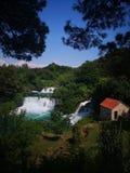 Cascadas hermosas de Krka, Croacia foto de archivo libre de regalías