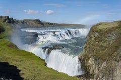 Cascadas Islandia de Gullfoss Imagen de archivo