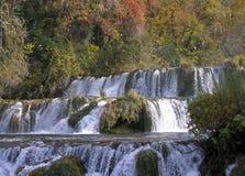Cascadas Krka Imagen de archivo libre de regalías