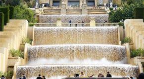 Cascadas ornamentales en Montjuic Fotografía de archivo