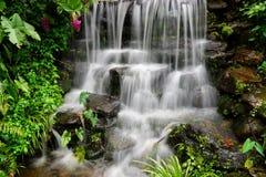 cascade à écriture ligne par ligne de jardin photographie stock libre de droits