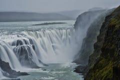 Cascade à écriture ligne par ligne Islande Photo libre de droits