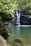 Cascade à écriture ligne par ligne #1 d'Hawaï Photo libre de droits