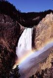 Cascade à écriture ligne par ligne Photos stock