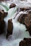 Cascade à écriture ligne par ligne au Canada Photo stock