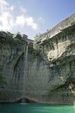 Cascade à écriture ligne par ligne croate de roche Photographie stock