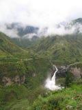 Cascade à écriture ligne par ligne d'Ecuadorian Image libre de droits