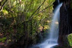 Cascade à écriture ligne par ligne d'Eifonso de fleuve, à Vigo, l'Espagne Images libres de droits
