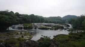 Cascade à écriture ligne par ligne dans Guizhou image libre de droits
