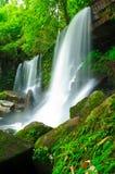 Cascade à écriture ligne par ligne dans la jungle, Loei, Thaïlande Images stock
