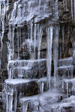 cascade à écriture ligne par ligne de glace Photos stock