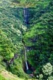 Cascade à écriture ligne par ligne de Kauai Photos libres de droits
