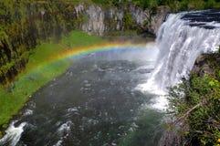 Cascade à écriture ligne par ligne de l'Idaho Photos libres de droits