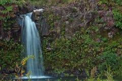 Cascade à écriture ligne par ligne de Maui outre de la route à Hana Images stock