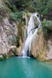 Cascade à écriture ligne par ligne de Peloponese, Grèce Images stock